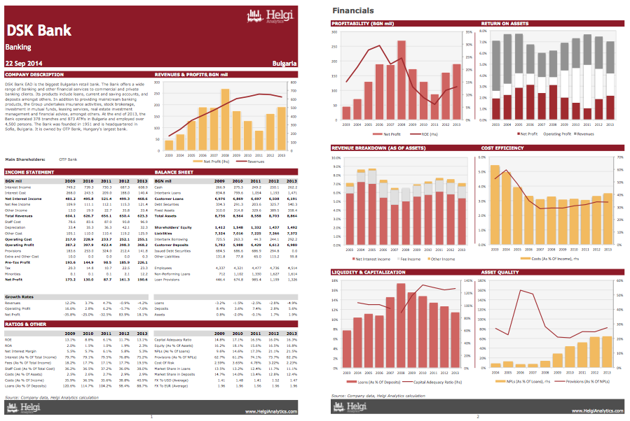 DSK Bank at a Glance