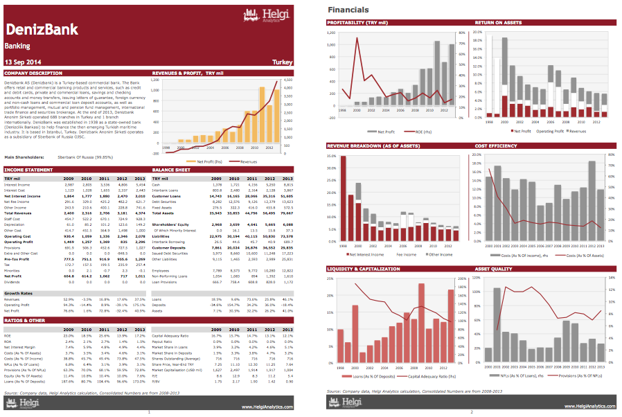 DenizBank at a Glance