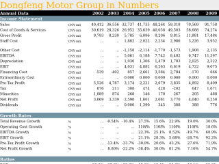 Dongfeng Motor Group in Numbers