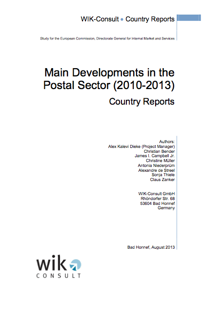Main Developments in the Postal Sector in 2010-2013