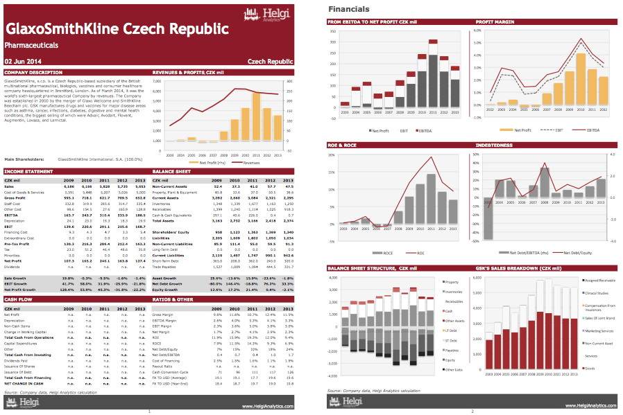 GlaxoSmithKline Czech Republic at a Glance