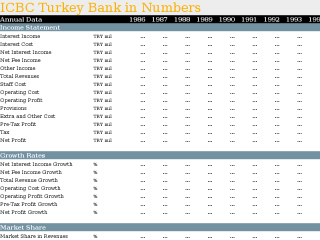 ICBC Turkey Bank in Numbers