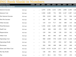 ING Bank Slaski in Numbers