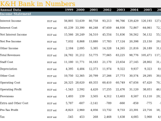 K&H Bank in Numbers
