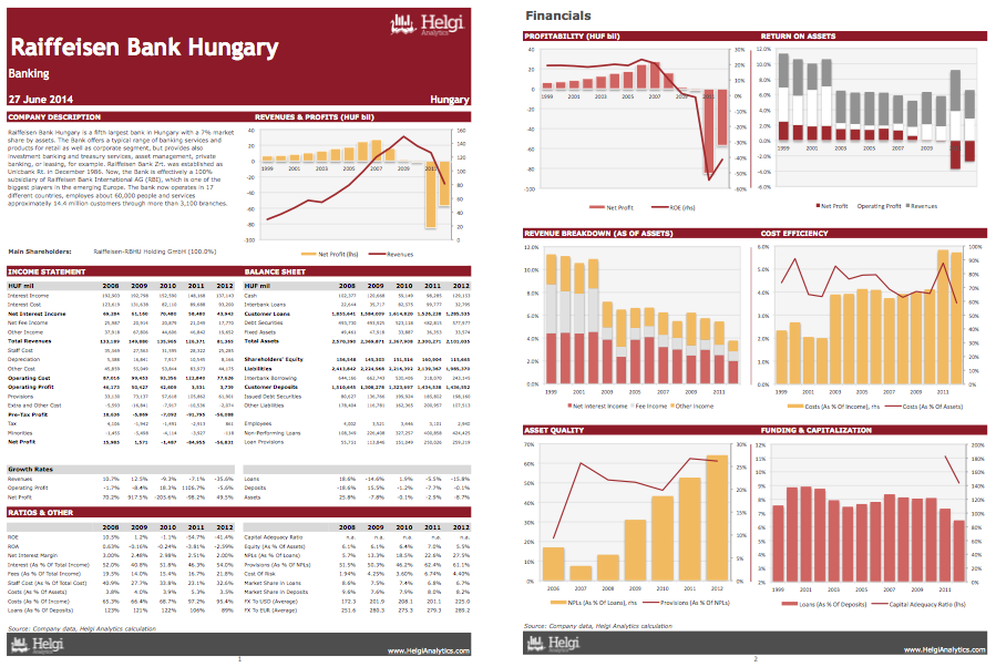 Raiffeisen Bank Hungary at a Glance