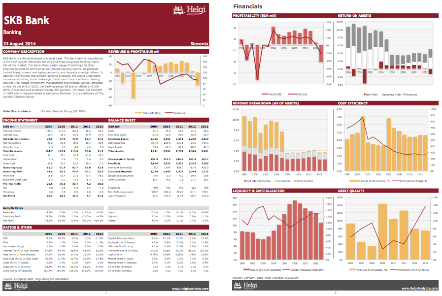 SKB Banka at a Glance