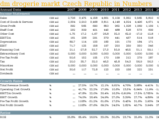 dm drogerie markt Czech Republic in Numbers